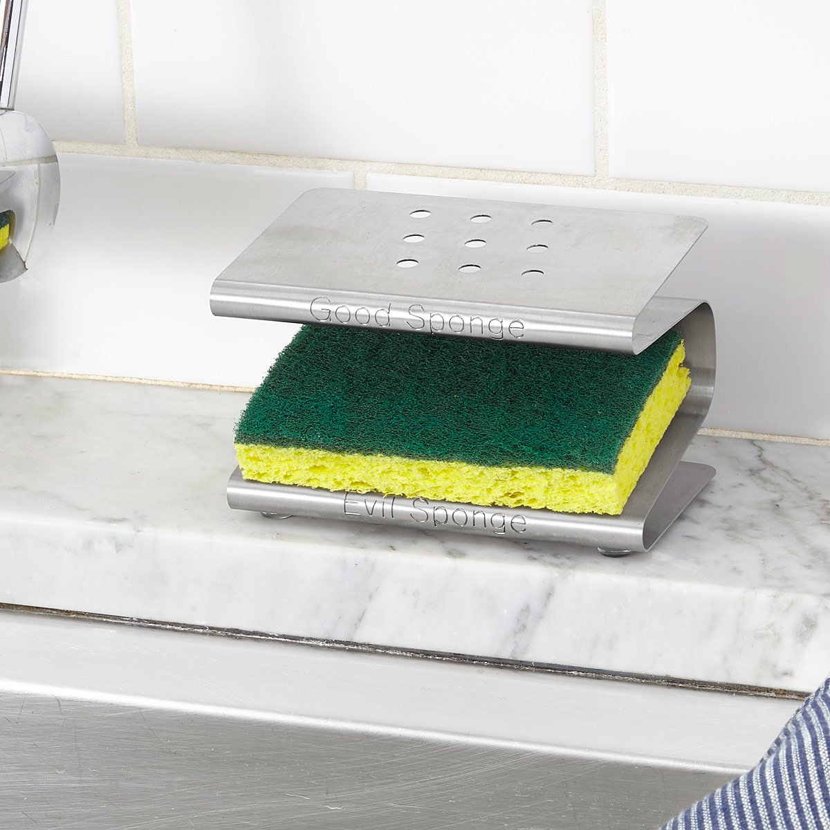 Kitchen Sink Sponge Holder spongester | kitchen sponge holder, rack, caddy | uncommongoods