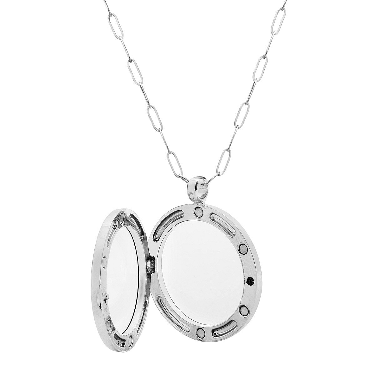 lockets clear glass memory silver keepsake locket thumbnail product uncommongoods sterling