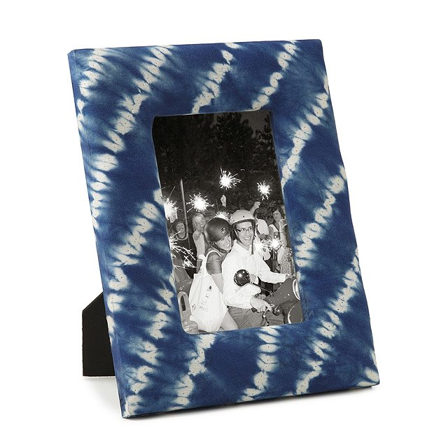 Tie Dye Picture Frame Shibori Memories Photos Keepsakes Home