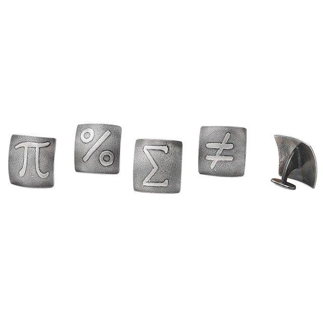 Math Symbol Cufflink Geek Cufflinks Jewelry Pi Symbol
