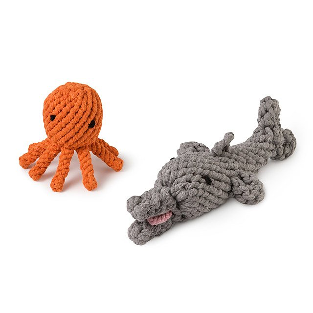 Elton Octopus and Danny Dolphin Chew Toys