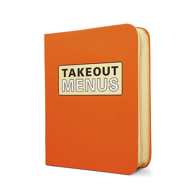 takeout menus organizer restaurant menu holder uncommongoods