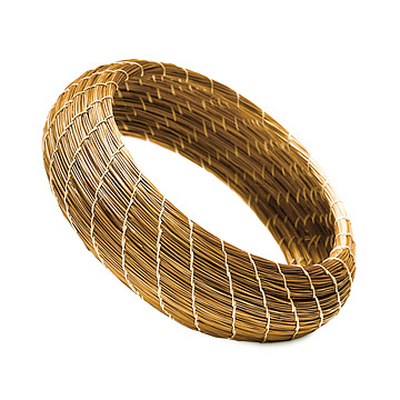 Golden Grass Wide Bangle