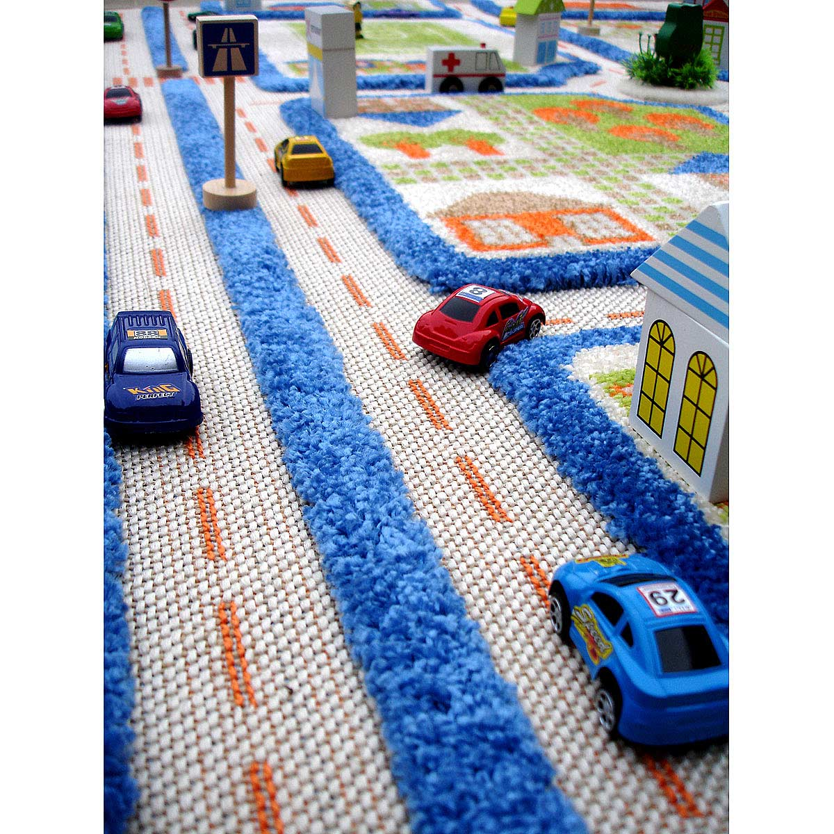 rug ruglove road slip multi city map kids products non lc