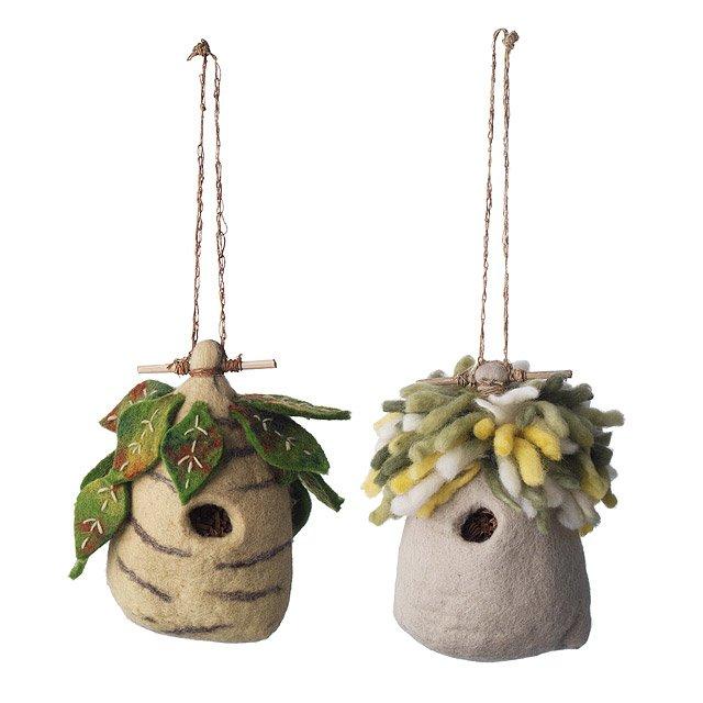 Felt Birdhouses