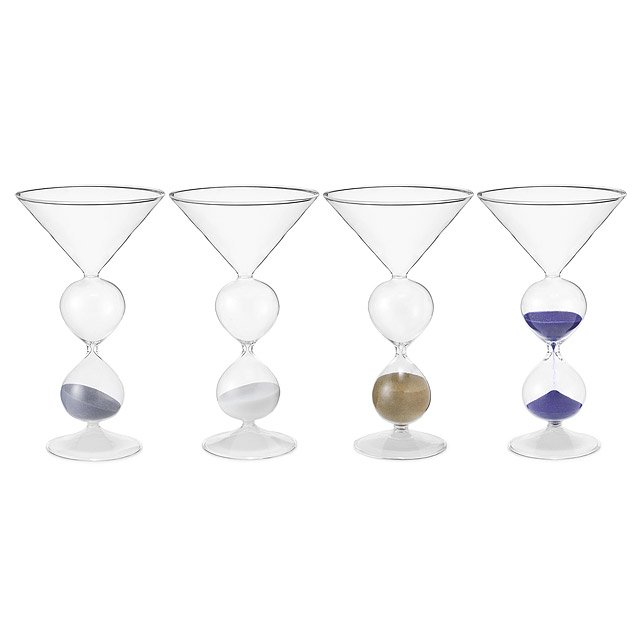 Martini Hourglasses - Set of 4