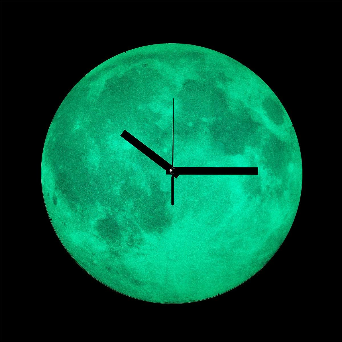 Moon clock glowing lunar clock uncommongoods moon clock 2 thumbnail amipublicfo Images