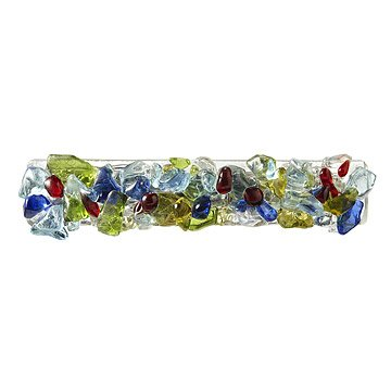 Multicolored Recycled Glass Barrette