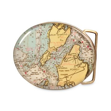 Custom Map Belt Buckle