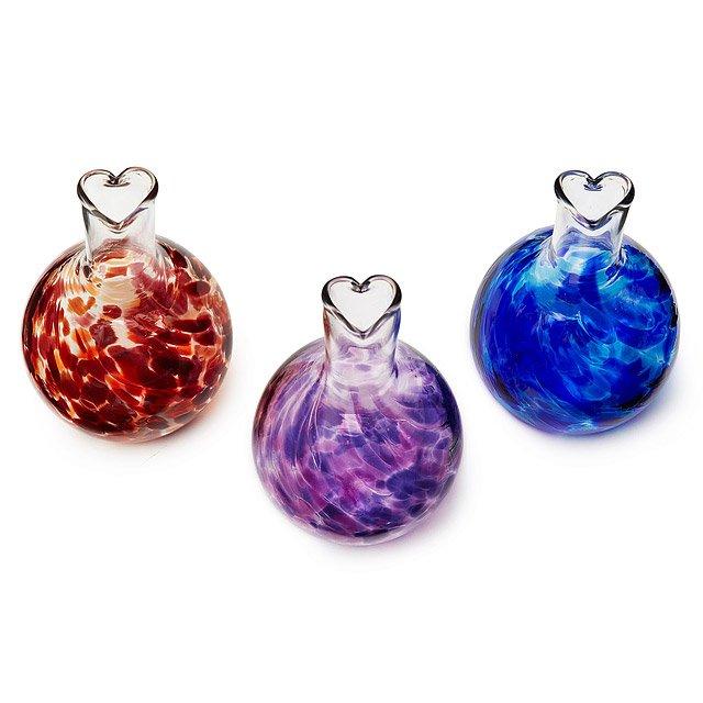 Heart Vases Handmade Glass Flower Holder Uncommongoods