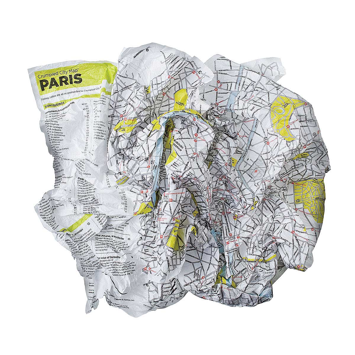 Crumpled City Maps Travel Guide Backpack Europe City New - Chicago map new york