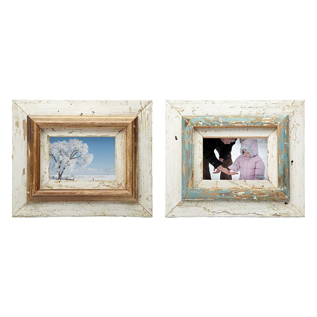Repurposed Layered Wood Frames | This reclaimed wood layer frame is ...