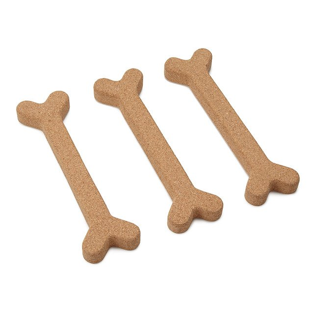 Bone Appetit Cork Trivets -Set of 3
