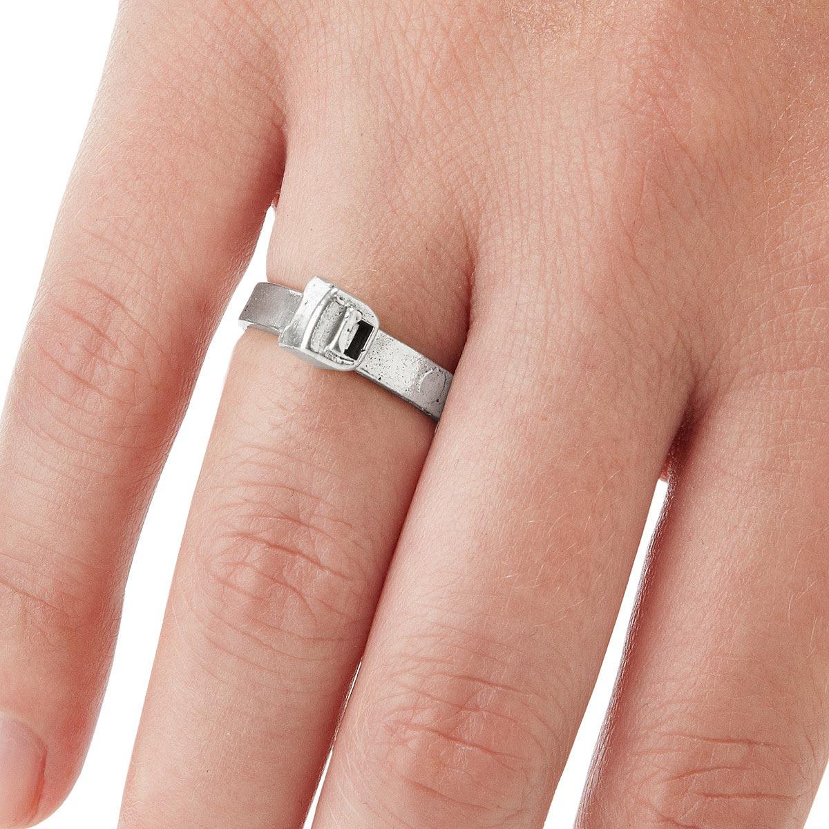 Zip Tie Ring Zip Tie Zip Tie Ring Sterling Silver Ring Silver