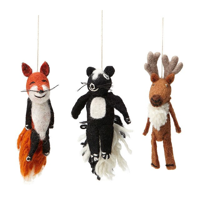 Woodland Animals Finger Puppet Ornaments