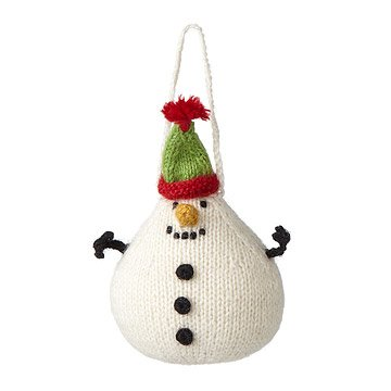 Snowman Knit Ornament