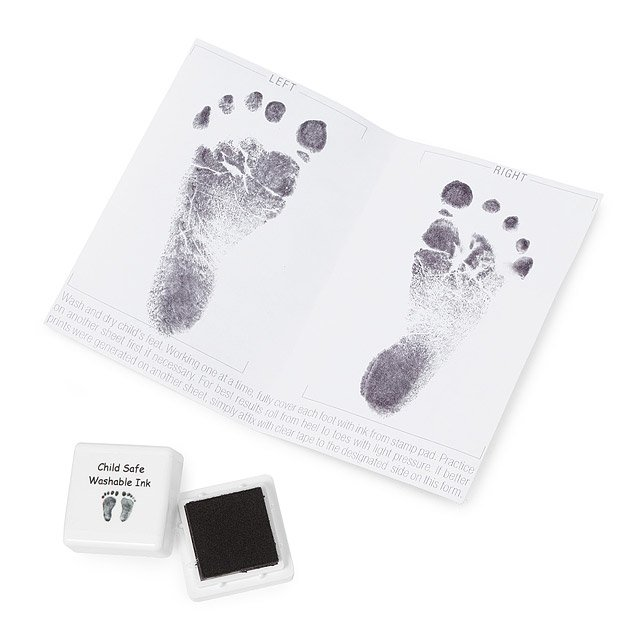 Custom Baby Footprint Stamp Necklace 3