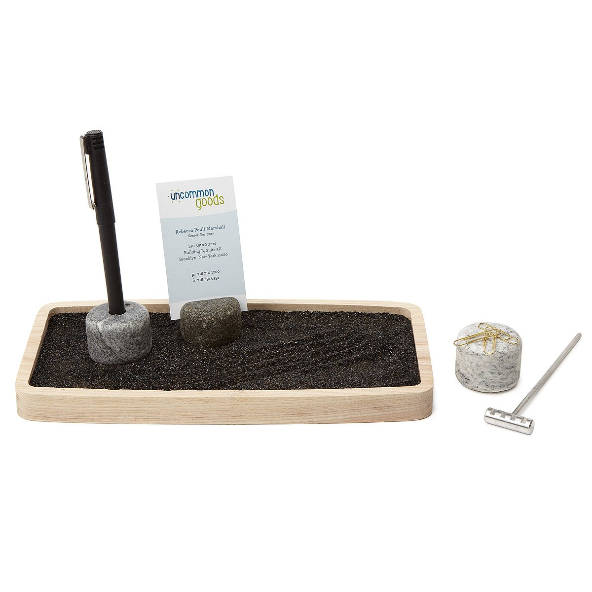 Desktop Zen Garden Office Workplace Cubicle Business Card