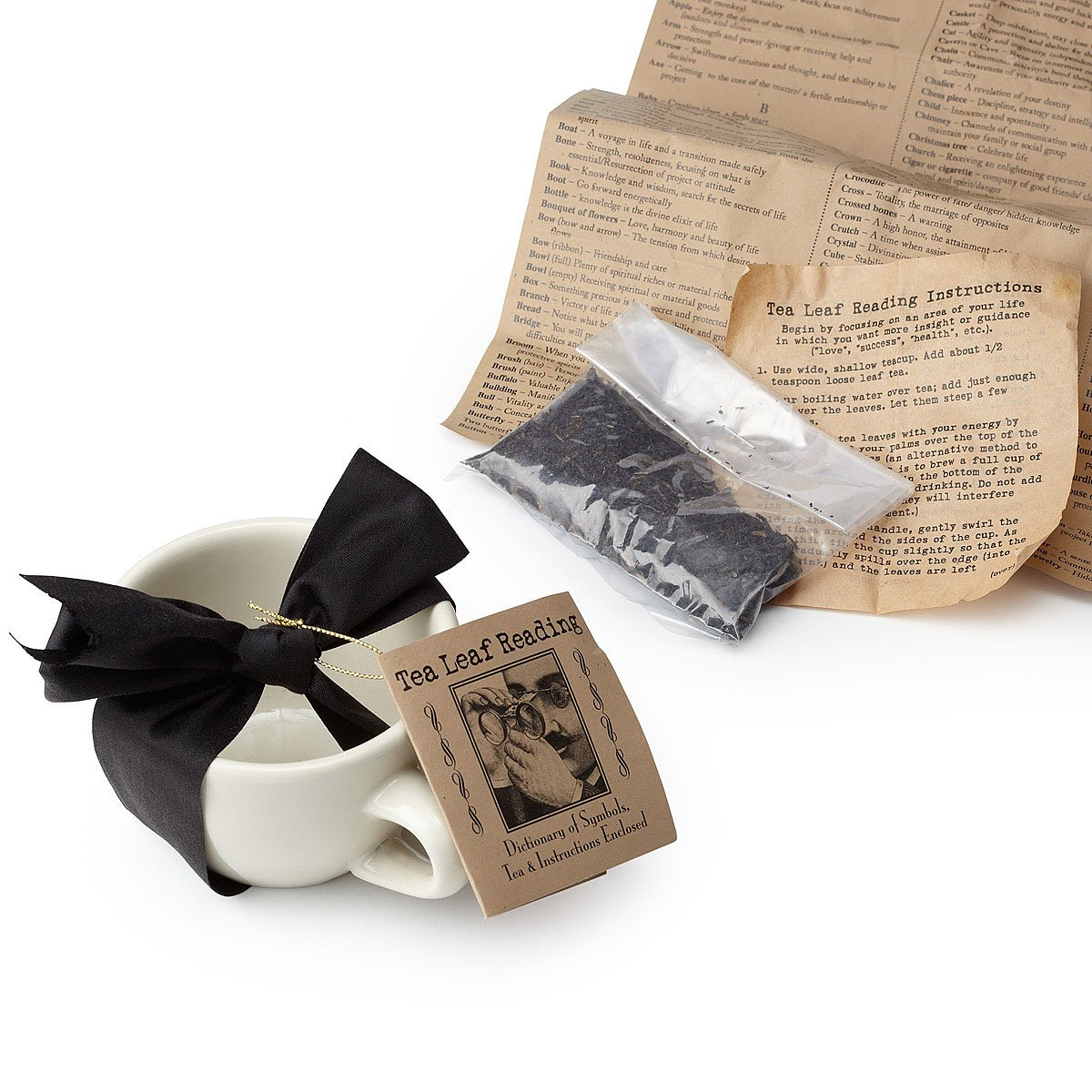 Tea Leaf Reading Kit Good Fortune Telling Game Uncommongoods