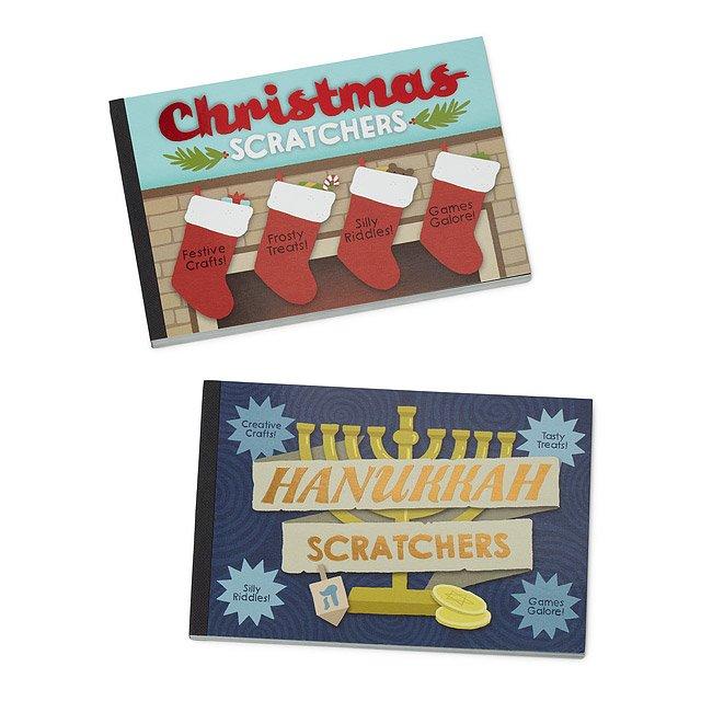 Hanukkah Christmas Stocking.Christmas Hanukkah Scratchers Book Game Activity Gift