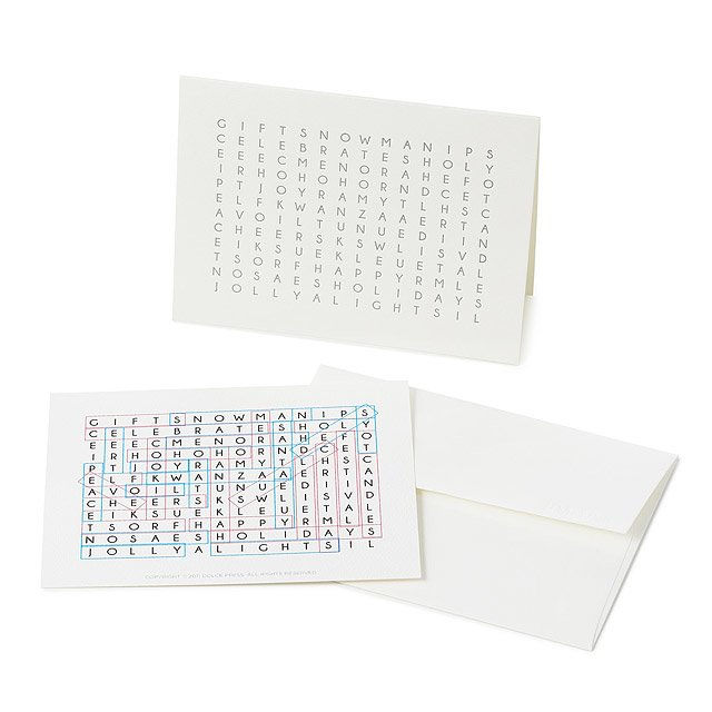 Word Search Holiday Cards