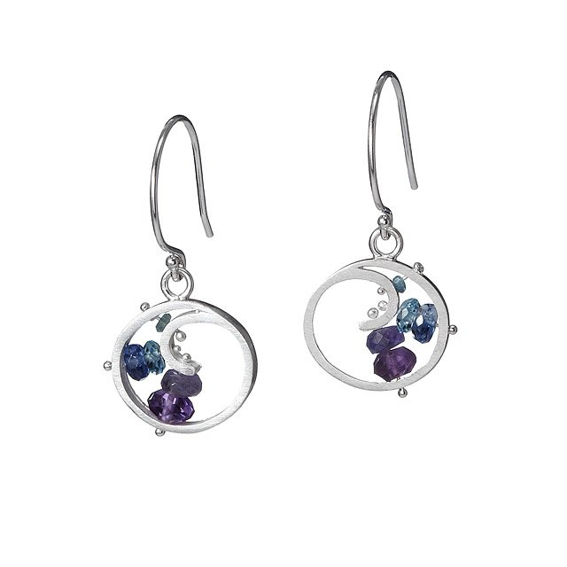 Berry Spiral Earrings