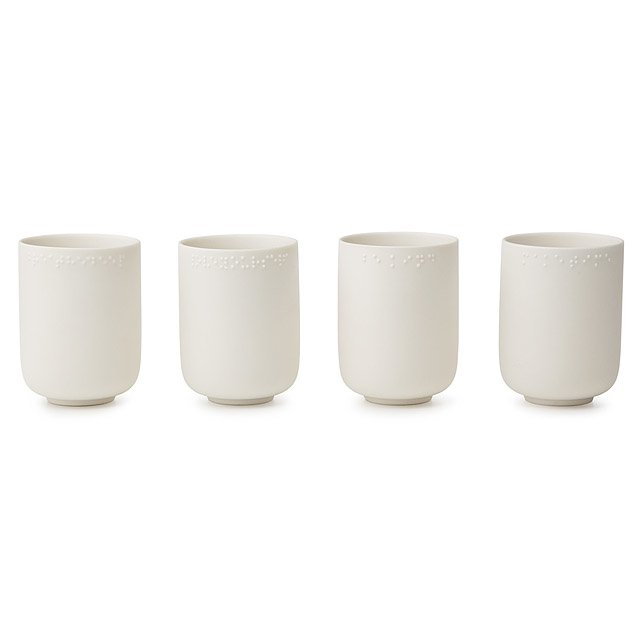 Hidden Message Cups - Set of 4