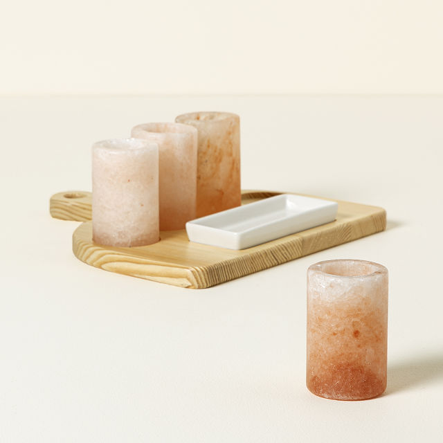 Shot Glass Escort Cards Bridesmaid Gift Tequila Shot Glasses Tequila Gift Monogram Initial Himalayan Pink Salt Shot Glasses