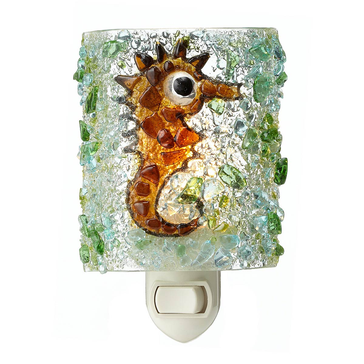 Bathroom Night Light recycled glass seahorse night light | children bedroom, beach