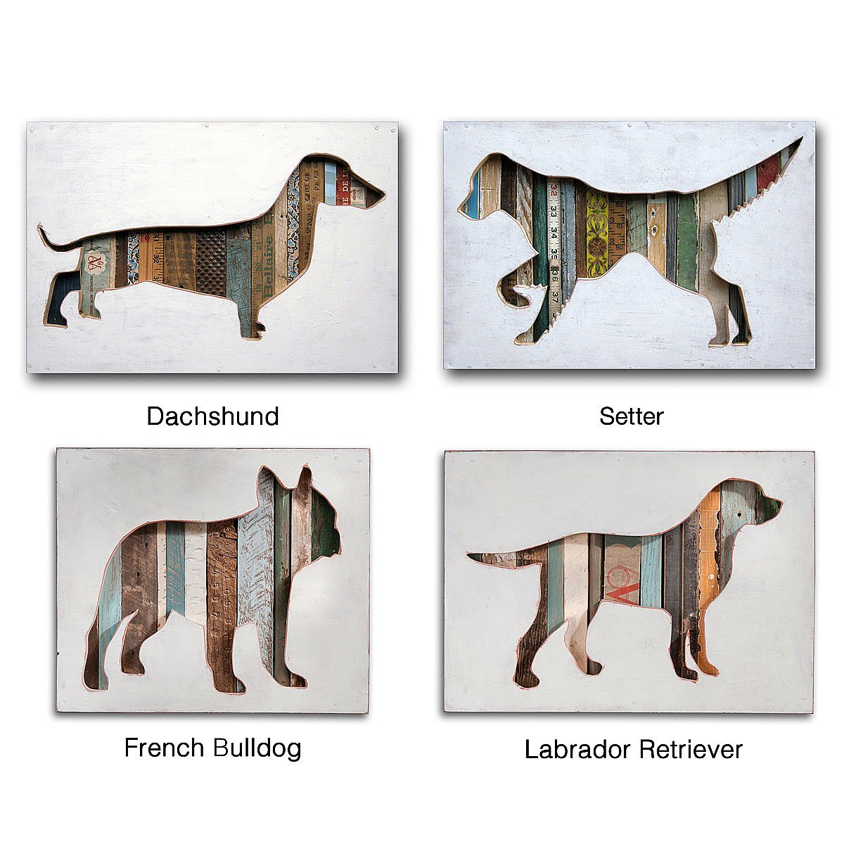 dog silhouette | recycled art, pet portrait | uncommongoods