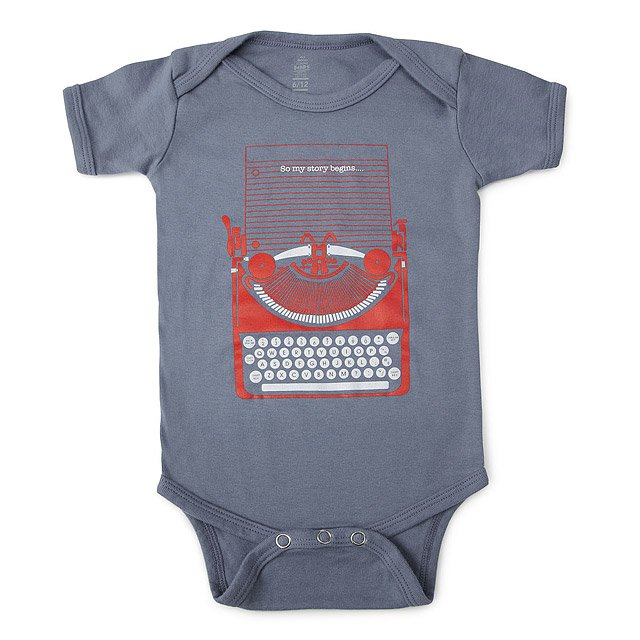 816bc62a0 So My Story Begins Babysuit   funny baby onesies, romper   UncommonGoods