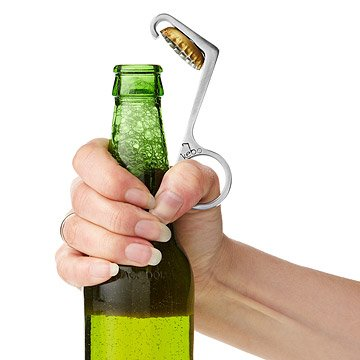 One-Handed Bottle Opener