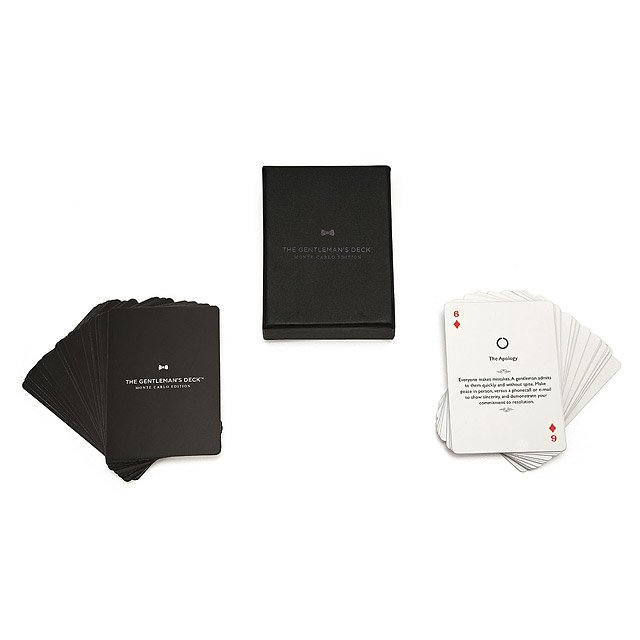 Gentlemen's Card Deck