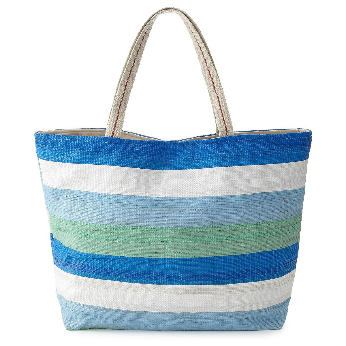 Recycled Plastic Beach Tote | recycled bags, summer, eco friendly ...