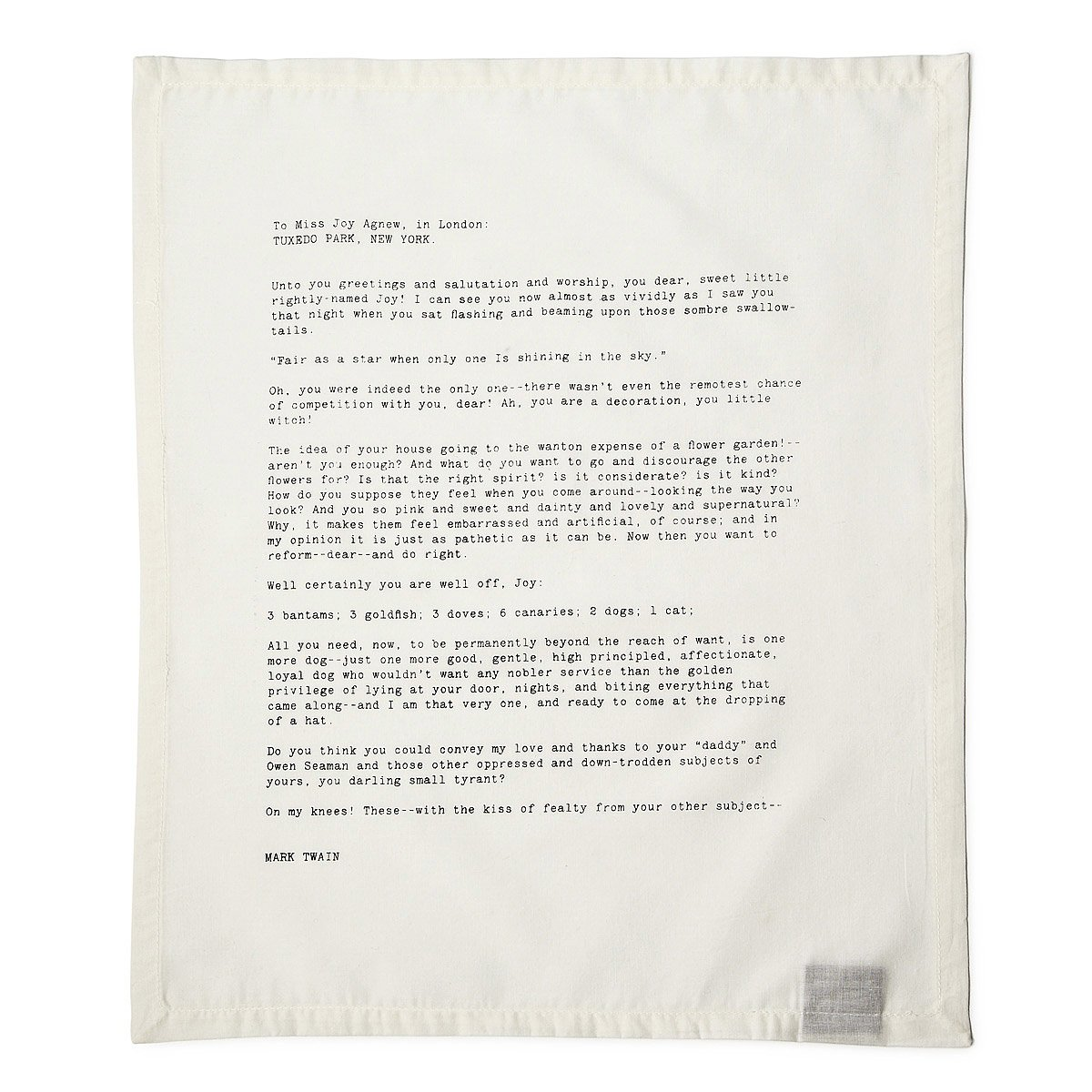 Love Letter Napkins Set Of 4 Luxury Table Linens Uncommongoods