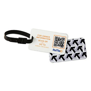 QR Code Luggage Tag - Set of 2