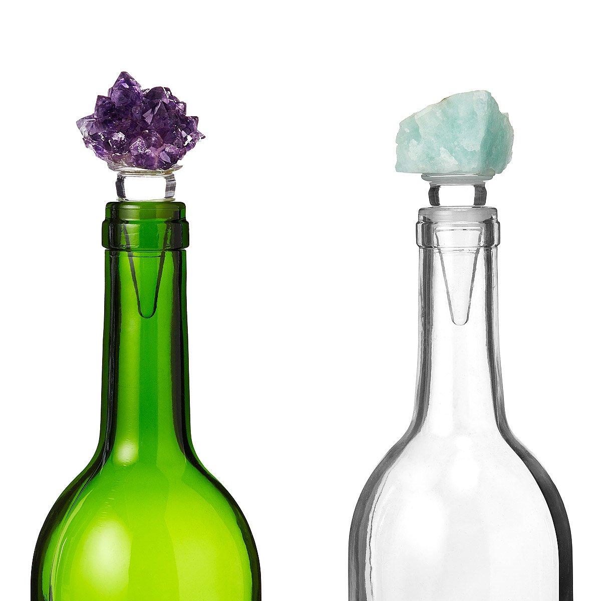 Natural Stone Wine Stopper | wine bottle stopper, crystal cork ...