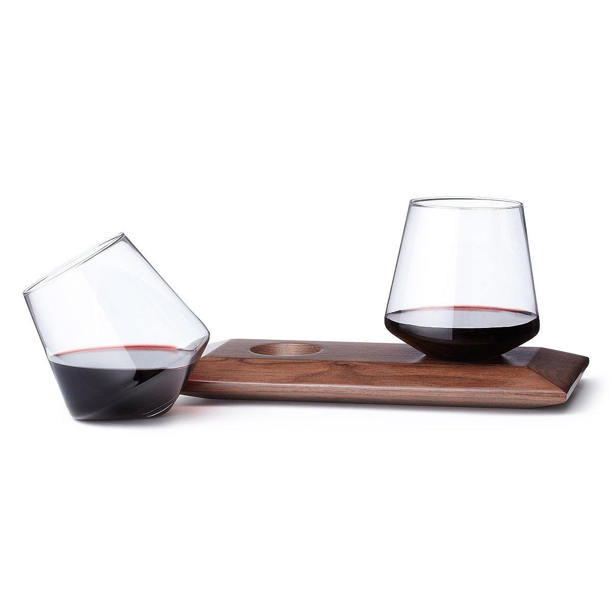 cupa glasses u0026 wood holder 1 thumbnail
