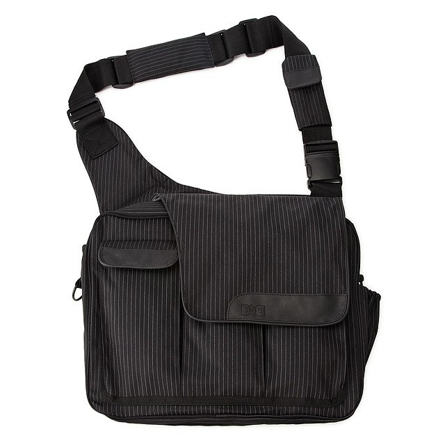 Pinstripe Diaper Dude Bag 1
