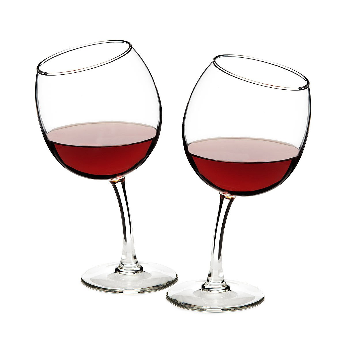 Tipsy Wine Glasses | Funny Glass Goblets | UncommonGoods