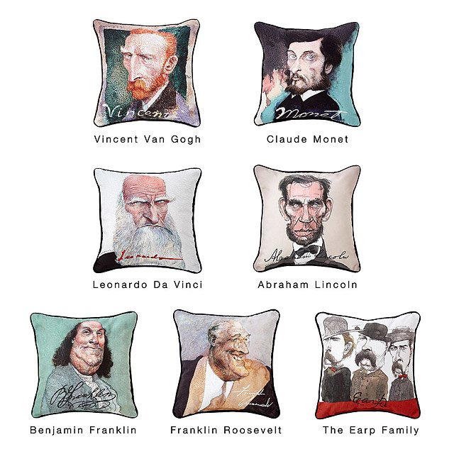Decorative Iconic Caricature Pillows 2