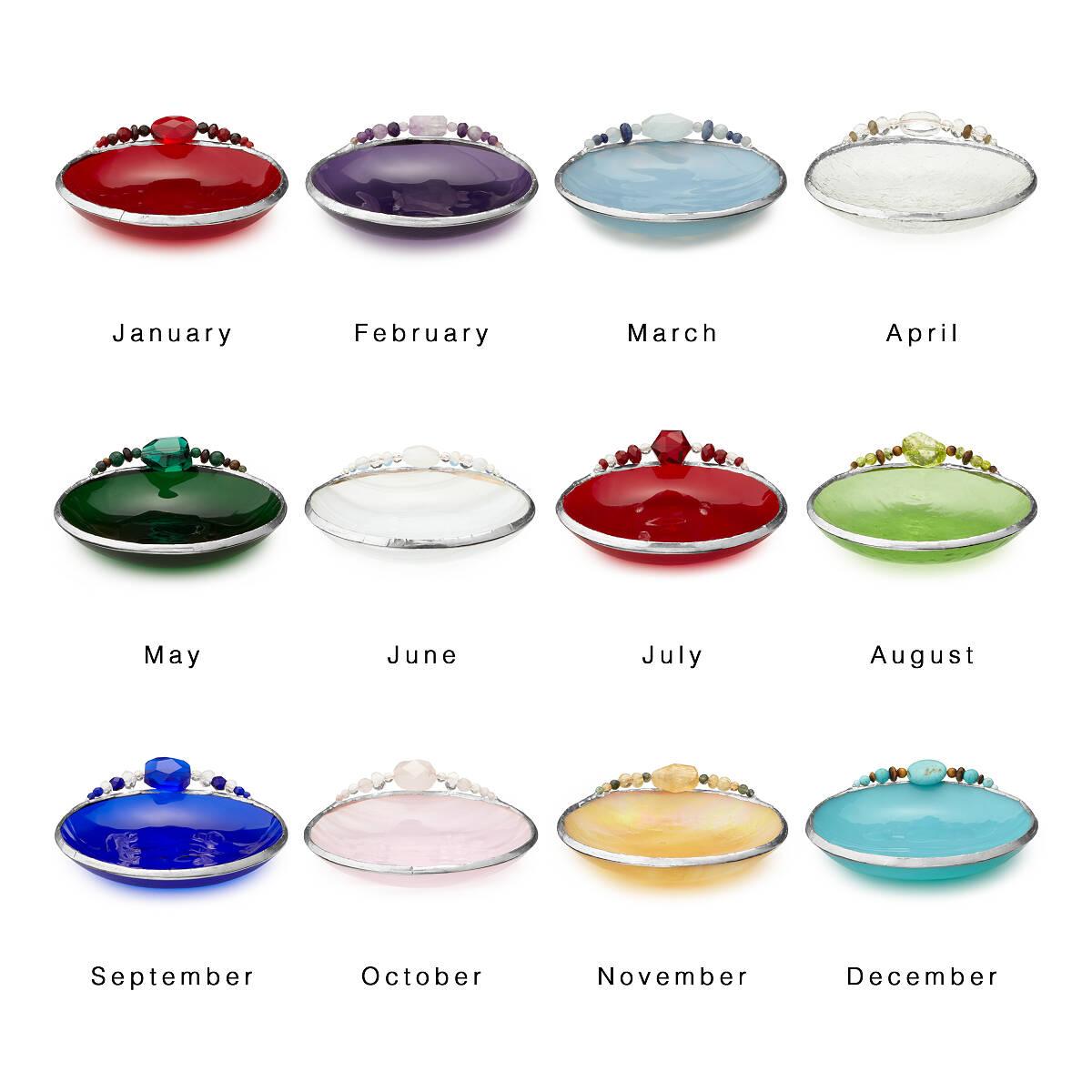 Birth month mini dish birth stone glass jewelry dish uncommongoods birth month mini dish 2 thumbnail biocorpaavc