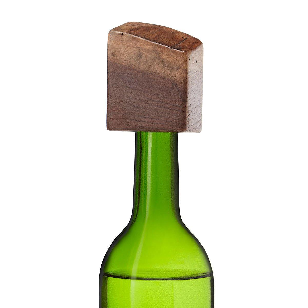 Live Edge Bottle Stopper | wooden wine stopper | UncommonGoods