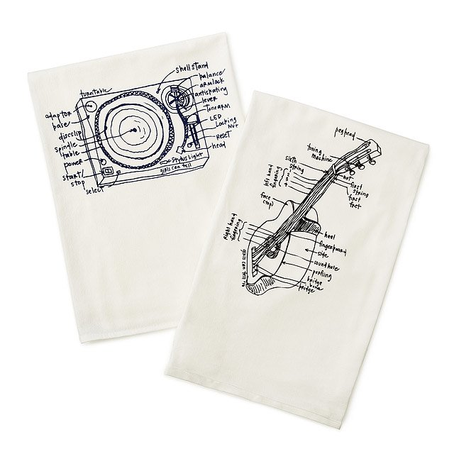 Music Tea Towels - Set of 2