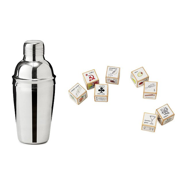Cocktail Dice with Shaker