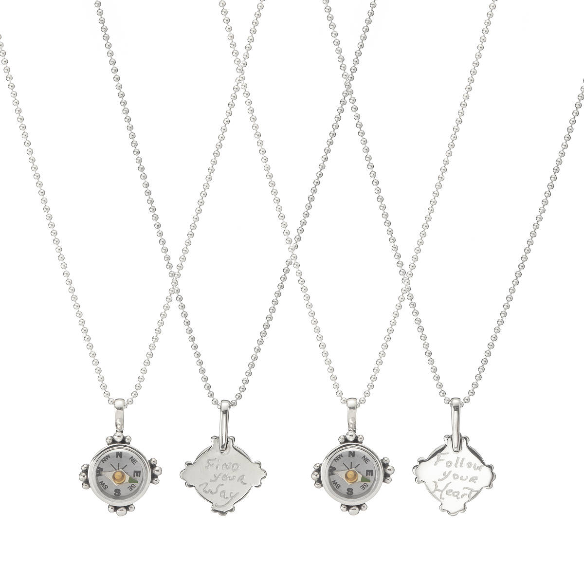compass necklace in products dainty available silver gold or