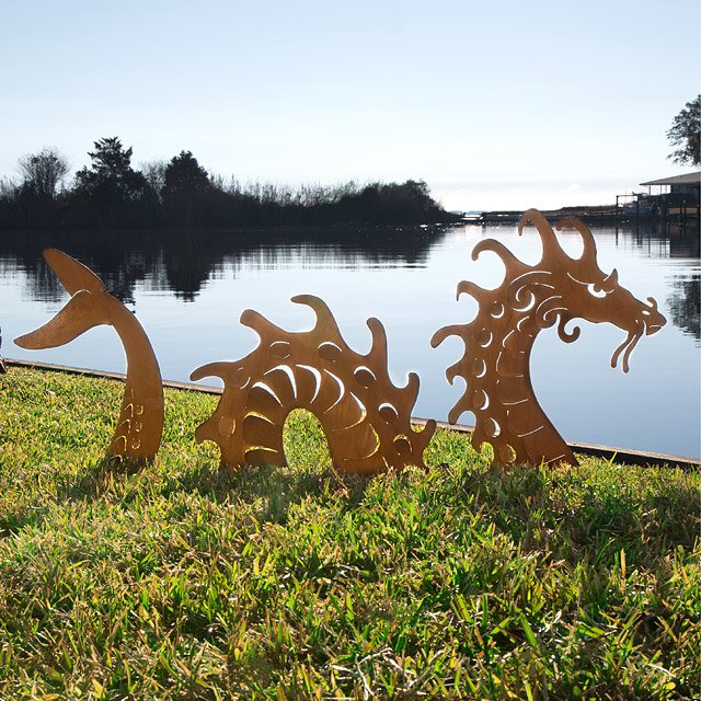 Sea Serpent Garden Sculpture