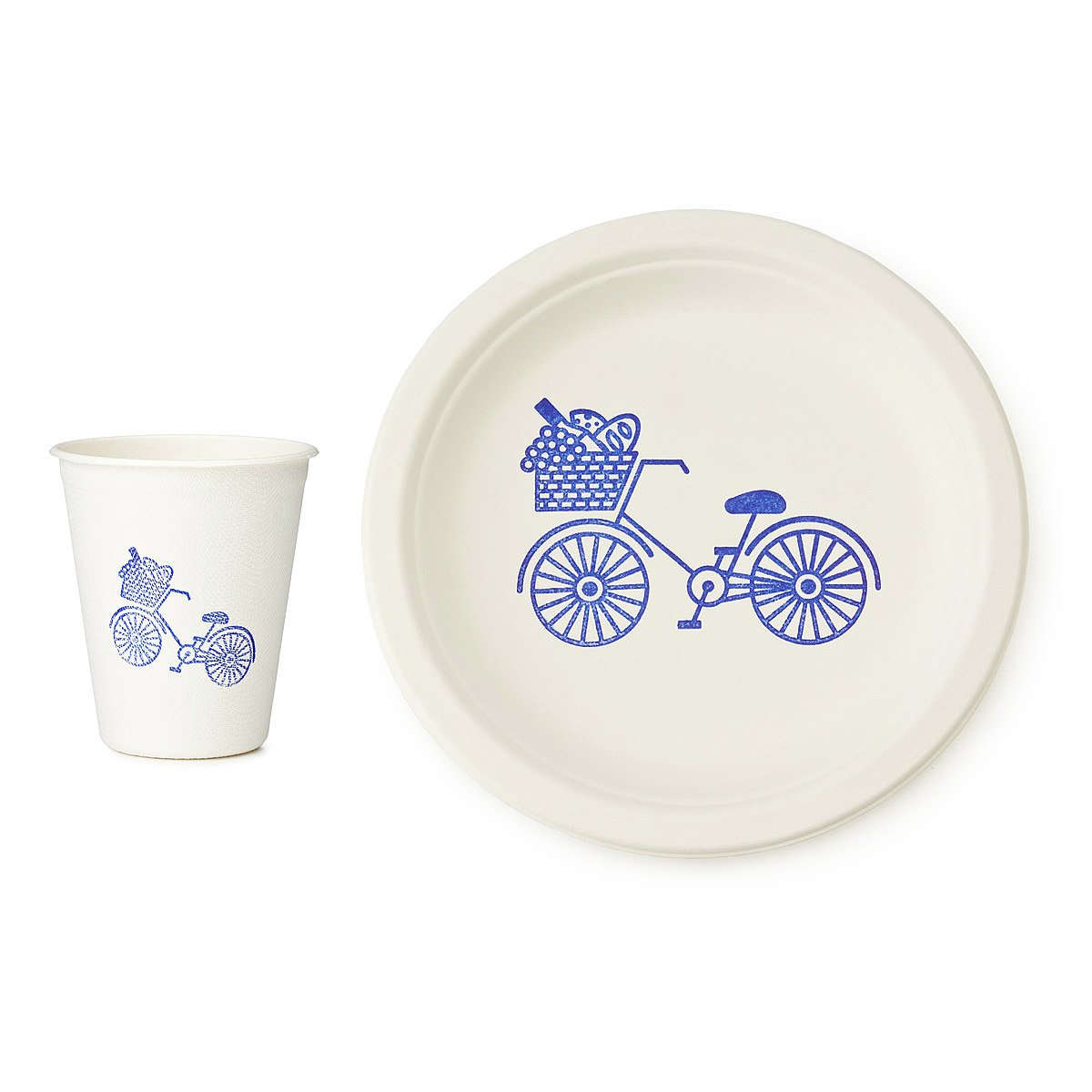 Sustainable Picnic Plates and Cups Set 1 thumbnail  sc 1 st  UncommonGoods & Sustainable Picnic Plates and Cups Set | plate design bike plate ...