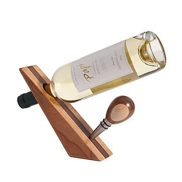 Wooden Bottle Stopper & Stand
