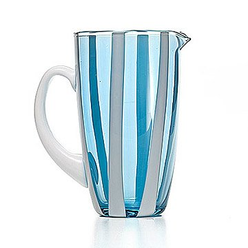 Gessato Glass Pitcher